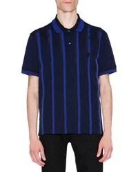 Alexander Mcqueen Ribbon Stripe Polo Shirt Navy Black