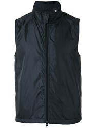 Aspesi Zip Gilet Men Nylon Polyester Xl Blue