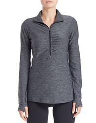 New Balance Half Zip Thumbhole Active Top Grey