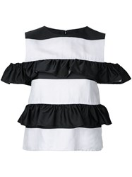 Goen.J Ruffle Tiered Top White