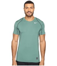 Nike Pro Cool Fitted S S Green Stone Seaweed White Men's Short Sleeve Pullover Gold