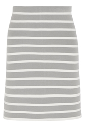 Richard Nicoll Striped Stretch Knit Skirt