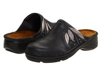 Naot Footwear Anise Armor Leather Silver Threads Leather Polar Sea Leather Women's Clog Shoes Black