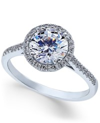 Arabella Swarovski Zirconia Ring In 14K White Gold Only At Macy's