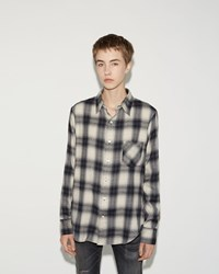 R 13 Slim Boy Shirt White Plaid
