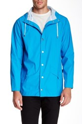 Rains Waterproof Hooded Jacket Blue