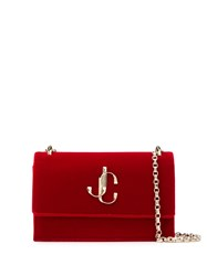 Jimmy Choo Logo Shoulder Bag Red