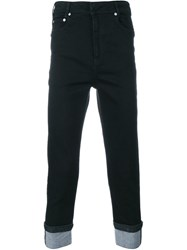 Neil Barrett Cuffed Jeans Black