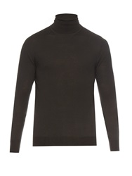 Lemaire Roll Neck Fine Knit Wool Sweater