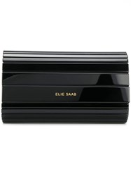 Elie Saab Panelled Clutch Black