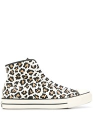 Converse Leopard Print Chuck Taylor Sneakers White