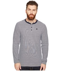 Hurley Lookout Dri Fit Long Sleeve Henley Obsidian Men's Long Sleeve Pullover Brown