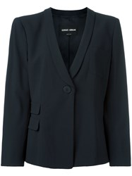 Giorgio Armani One Button Blazer Blue