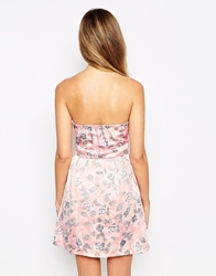 Pussycat London Floral Bandeau Dress Pink