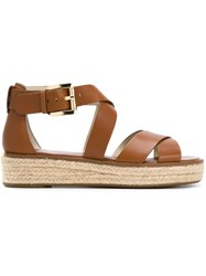 Michael Michael Kors Wedge Sandals Brown