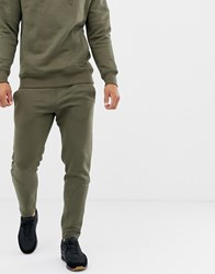 Another Influence Quilted Panel Slim Fit Joggers Green