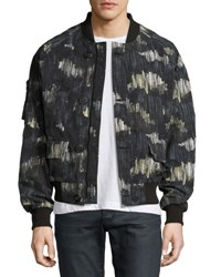 Canada Goose Faber Wind Resistant Bomber Jacket Gray Pattern