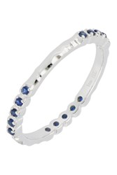 Bony Levy 18K White Gold Prong Set Sapphire Stacking Band Ring