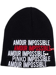 Pinko Amour Impossible Knitted Beanie Unavailable