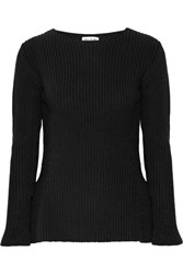 Paul And Joe Ribbed Cotton Sweater Black