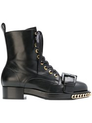 N 21 No21 Chain Trimmed Boots Black