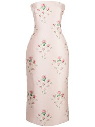 Brock Collection Strapless Floral Midi Dress 60