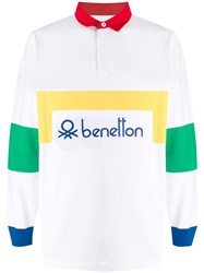 United Colors Of Benetton Colour Block Logo Polo Shirt 60