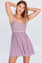 Kimchi And Blue Snow Queen Embellished Mini Dress Mauve