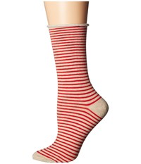 Richer Poorer Cate Red Oatmeal Women's Crew Cut Socks Shoes