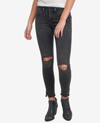Silver Jeans Co. Ripped Skinny Black
