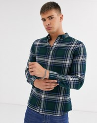 Burton Menswear Shirt In Green Check