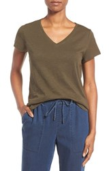 Eileen Fisher Women's Organic Cotton V Neck Tee Surplus
