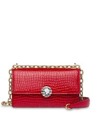 Miu Miu Solitaire Patent Leather Bag Red