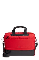 Lodis Kate Under Lock And Key Alexus Nylon And Leather Briefcase Red