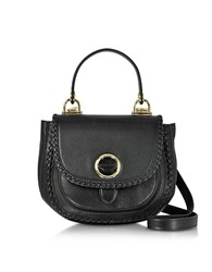 Michael Kors Isadore Medium Top Handle Black Pebble Leather Messenger Bag