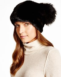 Maximilian Mink Hat With Fox Pom Pom