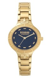 Versus By Versace Claremont Bracelet Watch 32Mm Gold Blue Gold