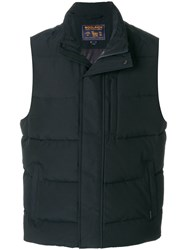 Woolrich Padded Gilet Cotton Feather Down Polyamide Polyester M Blue