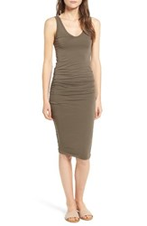 James Perse Women's Skinny Ruched Tank Dress