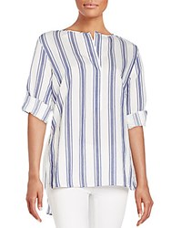 Bcbgmaxazria Striped Hi Lo Tunic Blue Stripe