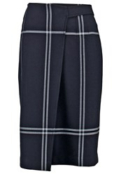 Club Monaco Lovelle Pencil Skirt Navy Dark Blue