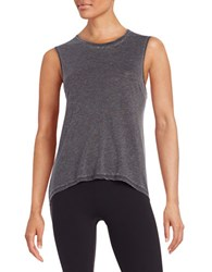 Betsey Johnson Cotton Blend Tank Top Charcoal