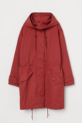 Handm H M Hooded Parka Red