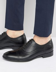 Red Tape Toe Cap Oxford Shoes In Black Leather Black