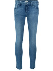 Mother 'Looker Ankle Fray' Jeans Blue