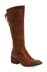 Brn Women's B Rn Felicia Knee High Boot Rust Distressed Leather