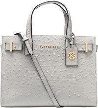 Kurt Geiger London Ostrich Leather Tote Grey Light