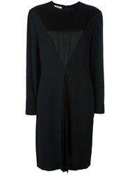 Christian Dior Vintage Satin Bib Dress Black