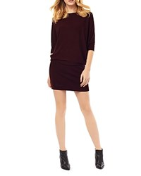 Phase Eight Becca Batwing Dress Dark Wine Marl