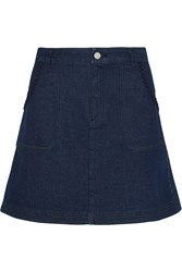 See By Chloe Embroidered Denim Mini Skirt